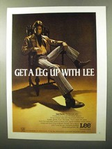 1970 Lee Flares Ad - Get a Leg Up With Lee - $14.99