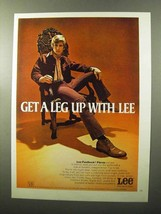1970 Lee Fastback Flares Ad - a Leg Up With Lee - $14.99