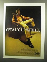 1970 Lee Leens Ad - Get a Leg Up With Lee - $14.99