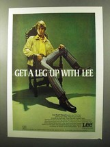 1970 Lee Tack Flare II Ad - Get a Leg Up With Lee - $14.99