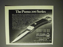 1976 Puma 200 Series Knife Ad - $14.99