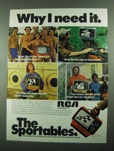 1976 RCA Sportable Model AU097 Television Ad - Need It - $14.99