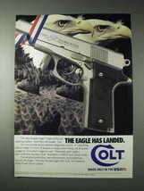 1990 Colt Double Eagle Series 90 Pistol Ad - Has Landed - $14.99