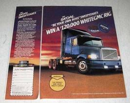 1990 Skoal Long Cut Tobacco Ad - White GMC Rig - $14.99