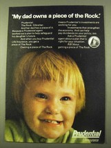 1970 Prudential Life Insurance Ad - My Dad Owns - $14.99