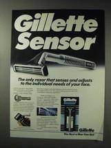1992 Gillette Sensor Razor Ad - Adjusts to Your Face - $14.99