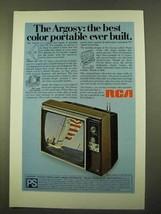 1970 RCA Argosy Television Ad - Best Portable Built - $14.99