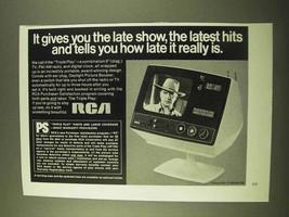 1970 RCA Triple Play TV, FM/AM Radio & Digital Clock Ad - $14.99