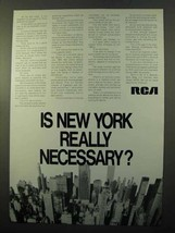 1970 RCA Research Ad - Is New York Really Necessary? - $14.99