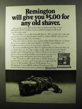 1970 Remington Lektro Blade Shaver Ad - Any Old Shaver - $14.99