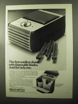 1970 Remington Shaver Ad - First With Disposable Blades - $14.99