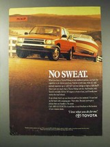 1992 Toyota Pickup Truck Ad - No Sweat - $14.99