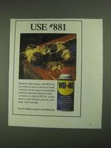1994 WD-40 Oil Ad - Use #881 - $14.99