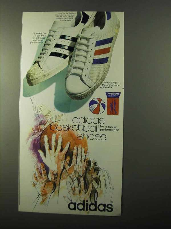 1971 Adidas Superstar Americana Shoes Ad And 50 Similar Items