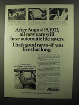 1971 Allstate Insurance Ad - Automatic Life Savers - $14.99