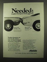 1971 Allstate Insurance Ad - Needed Tougher Bumpers - $14.99