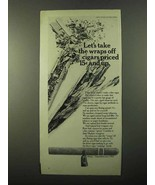 1971 Bering Cigars Ad - Let's Take the Wraps Off - $14.99