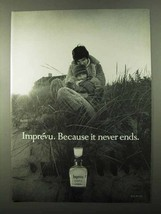 1971 Coty Imprevu Perfume Ad - Because it Never Ends - $14.99