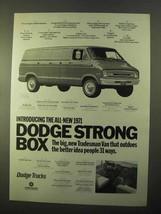 1971 Dodge Tradesman Van Ad - Strong Box - $14.99