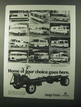1971 Dodge Motor Home Chassis Ad - Your Choice - $14.99