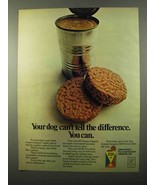 1971 Gaines-Burgers Dog Food Ad - Tell the Difference - $14.99