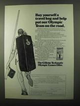 1971 Gillette Techmatic Razor Ad - Our Olympic Team - $14.99