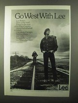 1971 Lee Riders Jeans Ad - Go West With Lee - $14.99