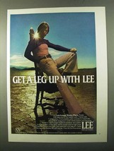 1971 Lee Leens Essex Flare Pants Ad - Get a Leg Up - $14.99