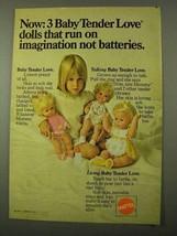 1971 Mattel Baby Tender Love Doll Ad - Talking, Living - $14.99