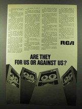 1971 RCA Computers Ad - Are They For Us or Against Us? - $14.99