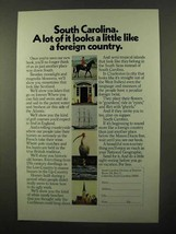 1971 South Carolina Tourism Ad - Like a Foreign Country - $14.99