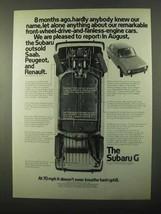 1971 Subaru G Car Ad - 8 Months Ago - $14.99