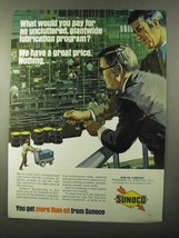 1971 Sunoco Oil Ad - Uncluttered Lubrication Program - $14.99