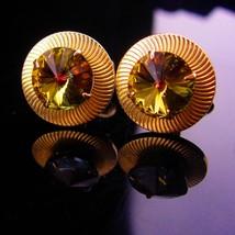 Vintage cufflinks / Shields cufflinks / Rivoli glass / groom cufflinks / tuxedo  - $95.00