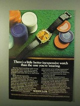 1971 Westclox Wristwatch Ad - Better Inexpensive - $14.99