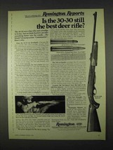 1974 Remington 760 ADL Rifle Ad - Best Deer Rifle - $14.99