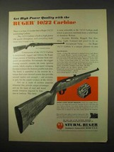 1974 Ruger 10/22 Carbine Ad - High Power Quality - $14.99