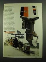 1976 Johnson 200 Outboard Motor Ad - World Runs - $14.99
