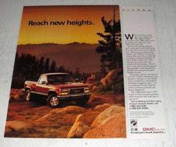 1990 GMC Sierra Pickup Truck Ad - Reach New Heights - $14.99