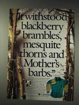 1991 Columbia Sharptail Shirt Ad - Blackberry Brambles - $14.99