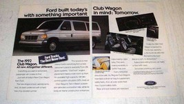 1991 Ford Club Wagon Ad - Somthing Important in Mind - $14.99