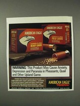 1991 Federal American Eagle Shotshells Ad - Warning - $14.99