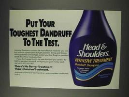 1991 Head & Shoulders Intensive Treatment Shampoo Ad - $14.99