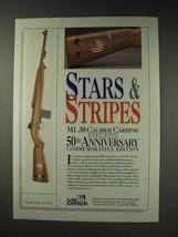 1991 Iver Johnson Stars & Stripes M1 .30 Carbine Ad - $14.99