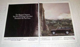 1991 Jeep Cherokee Ad - The Biggest Obstacle - $14.99