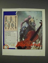 1991 Louisiana Tourism Ad - Hot Times Cool Deals - NICE - $14.99