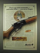 1991 Marlin 336 Rifle Ad - There Are Some Moments - $14.99