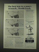 1991 NordicTrack Exercise Machine Ad - Man's Stomach - $14.99
