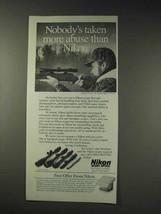 1991 Nikon Scopes Ad - Taken More Abuse - $14.99