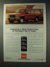 1992 GMC Suburban Ad - Idea of Perfect Way to Travel - $14.99